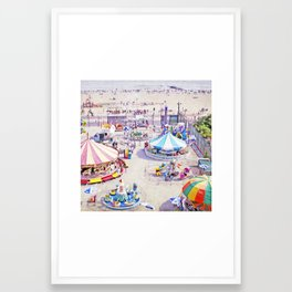 Coney Island Carnivale II Framed Art Print