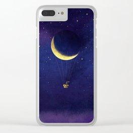 Lunar Flight Clear iPhone Case