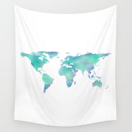 Cool Blue World Wall Tapestry