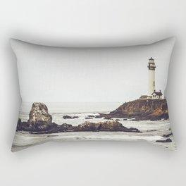 Lighthouse along the California Coast Rectangular Pillow