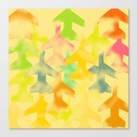 planes Canvas Prints featuring Planes by Megan Spencer