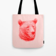 Brown bear is red and pink Tote Bag