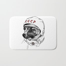 laika, space traveler Bath Mat