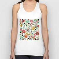 sewing Tank Tops featuring Gran's Sewing Basket by heidi kenney