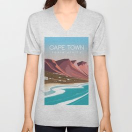 Cape town south africa poster Unisex V-Neck