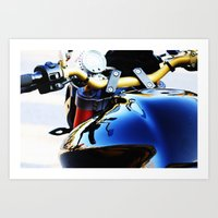 motorcycle Art Prints featuring Motorcycle by Carlo Toffolo