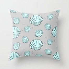 Sea shell jewel pattern Throw Pillow