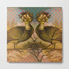 Symmetric Birds Metal Print