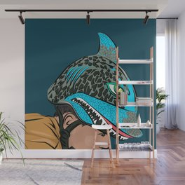 The Shark Helmet Wall Mural