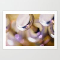 trumpet Art Prints featuring trumpet by laika in cosmos
