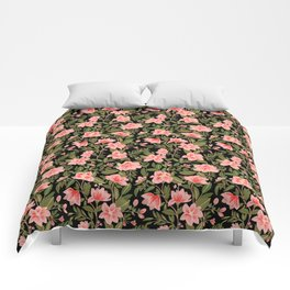 Tropical Pink Floral Pattern Comforters