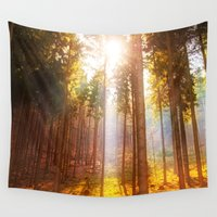 insects Wall Tapestries featuring Sunshine forest by Pirmin Nohr