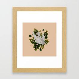 Leaves x Dove Framed Art Print