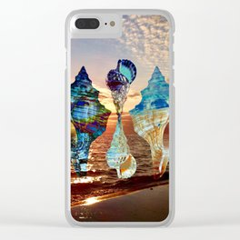Florida Shells Sunset Clear iPhone Case