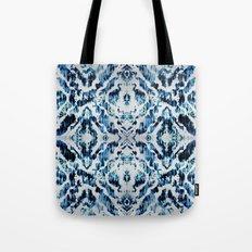 Peacock Tie-Dye Damask Tote Bag