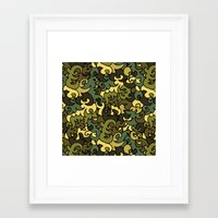 military Framed Art Prints featuring Military pattern. by Julia Badeeva