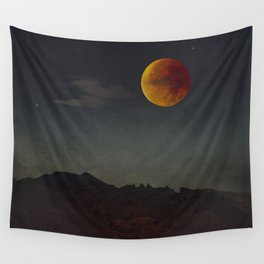 Blood Moon Rising Wall Tapestry