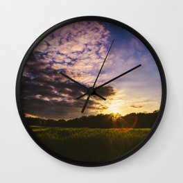 Underneath the Oklahoma Sky Wall Clock