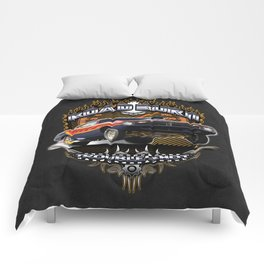 Plymouth Barracuda Road Burn - Muscle Car Comforters