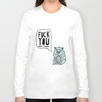 hamster Long Sleeve T-shirts featuring Foul Hamster by jess moorhouse