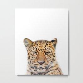 Leopard Animal Art Print by ZouzounioArt Metal Print
