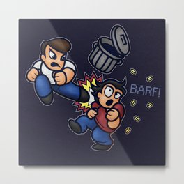 River City Ransom Barf Metal Print