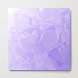 Low Poly Lavender Ombre Metal Print
