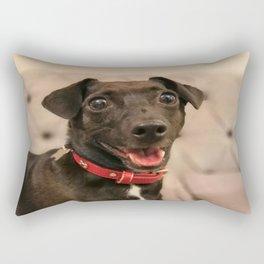 Black Jack Russell / Chihuahua Rectangular Pillow