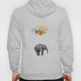 Dreaming Elephant Flying, Animal Zoo Nursery Photo, Large Printable Birthday Party Wall Art Hoody