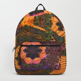 Embroidery on Wood Trippy Texture Backpack