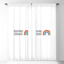 Pride Flag - LGBT+ Rainbow Equality Matters Blackout Curtain
