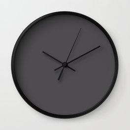 Coco Brown Neapolitan Solid Matte Colour Palette Wall Clock