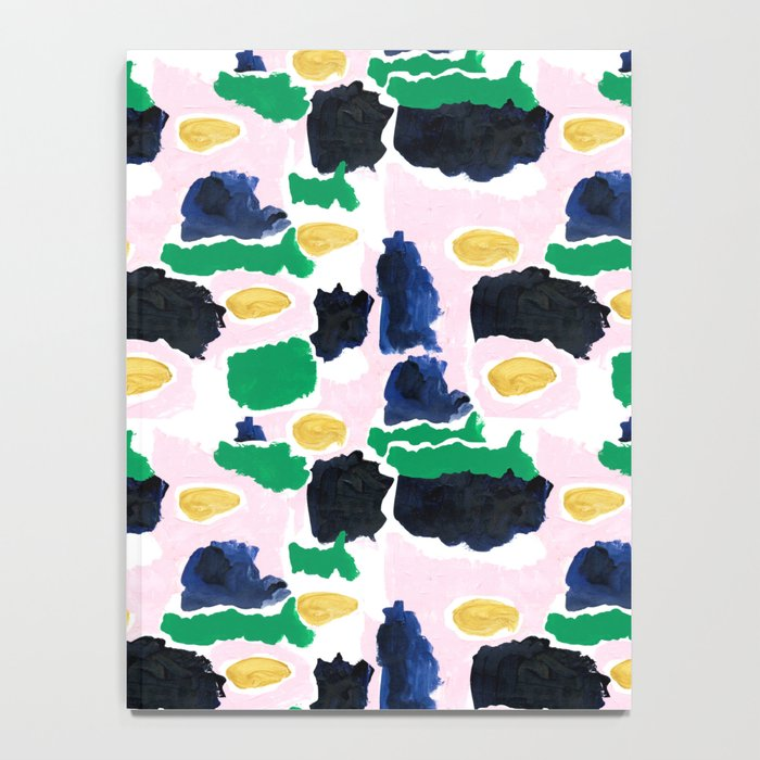 Imogen - painterly abstract palette colorful modern minimal painting boho dorm college hipster trend Notebook