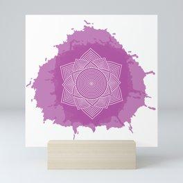 yoga chakra mandala Mini Art Print