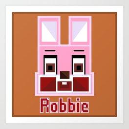 Block Robbie Art Print