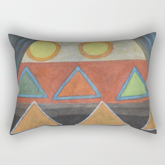 Clear the Stage for the Geometry Show Rectangular Pillow
