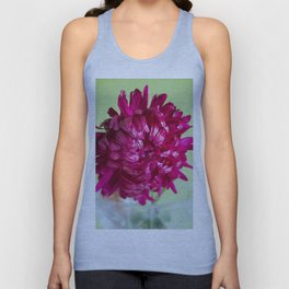 Close-up image of the flower Aster Unisex Tank Top