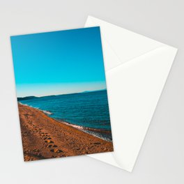 Greece Village at bay in the afternoon Stationery Cards