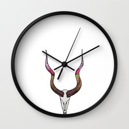 Kudu skull Wall Clock
