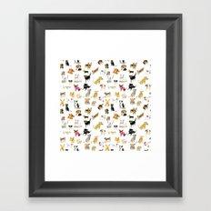 adopt a dog Framed Art Print