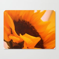 SunflowerPower ~ retro sunny orange flower Canvas Print