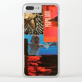 90's Grunge collage Clear iPhone Case