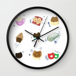 Kitty Café Wall Clock