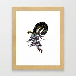 Lost Virtue Framed Art Print