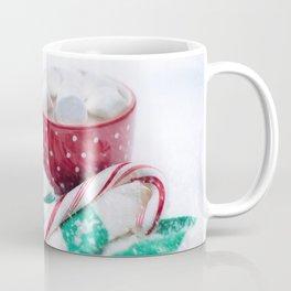 Hot Chocolate Green Scarf and Candy Cane Coffee Mug