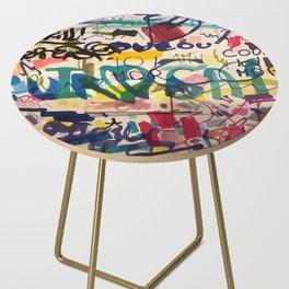 Urban Graffiti Paper Street Art Side Table