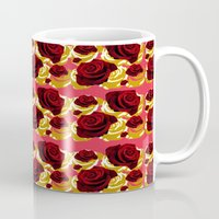 50s Mugs featuring 50s Roses by Marmalademudpie and Me