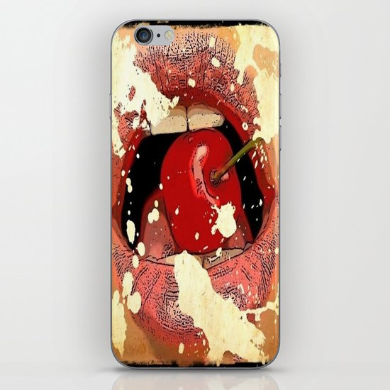 Red Cherry Lips iPhone & iPod Skin