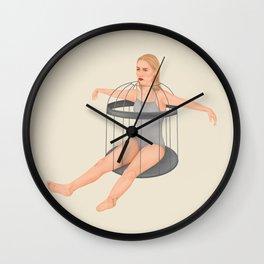 No, woman Wall Clock