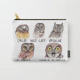 Owl Caffeine Meter -  funny owl coffee Carry-All Pouch